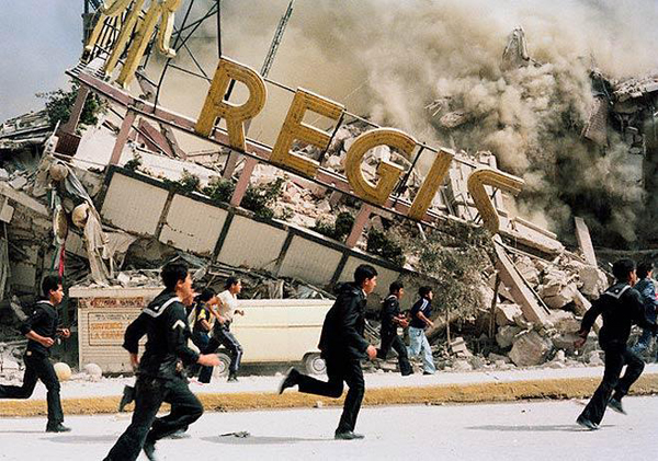 Hotel Regis, Mexico City Sept. 19 1985 (Photo: Google)