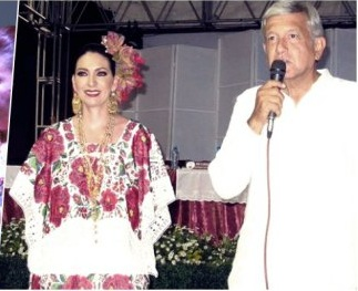 Alpha Alejandra with Andres Manuel Lopez Obrador (Photo: http://noticaribe.com.mx)