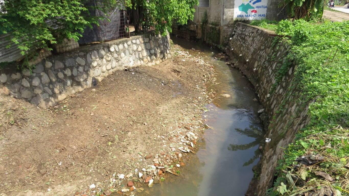 Pollution in Rio Huixtla Chiapas (Photo: Proyecto 40)