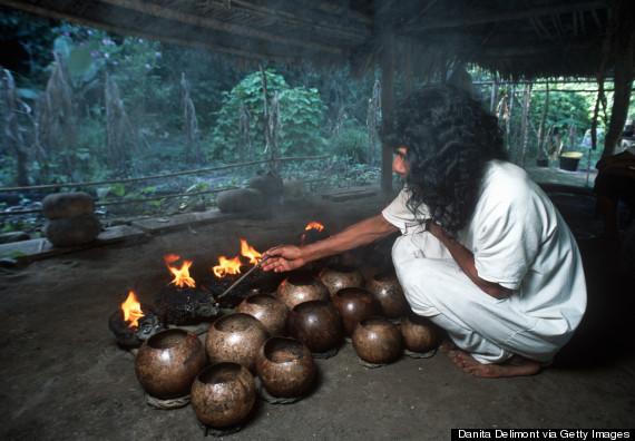 The last Lacandon Mayan shaman, Selva Lacandona, Naha, Chiapas, Mexico