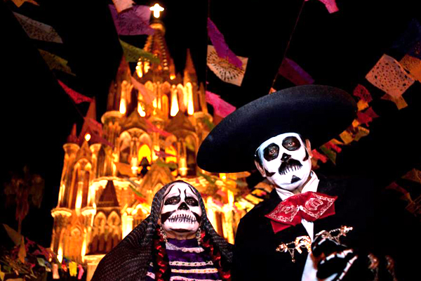 Day of the Dead in downtown San Miguel de Allende (Google)