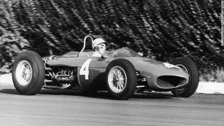 Ricardo Rodriguez behind the wheel of the 1964 Ferrari (caranddriver)