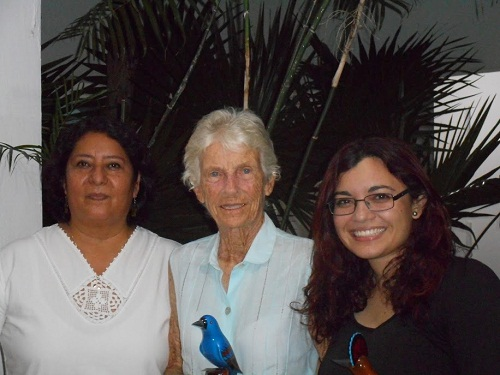 Photo: Robert Adams (left to right) Maria Andrade Hernandez, Joann M. Andrews and Marigel Campos Capetillo of Pronatura Peninsula de Yucatan.