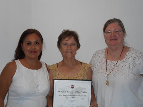 Photo: Robert Adams (left to right) IWC officers Laura Hernandez, Elizabeth Johansson de Ballate and Anne Franks.