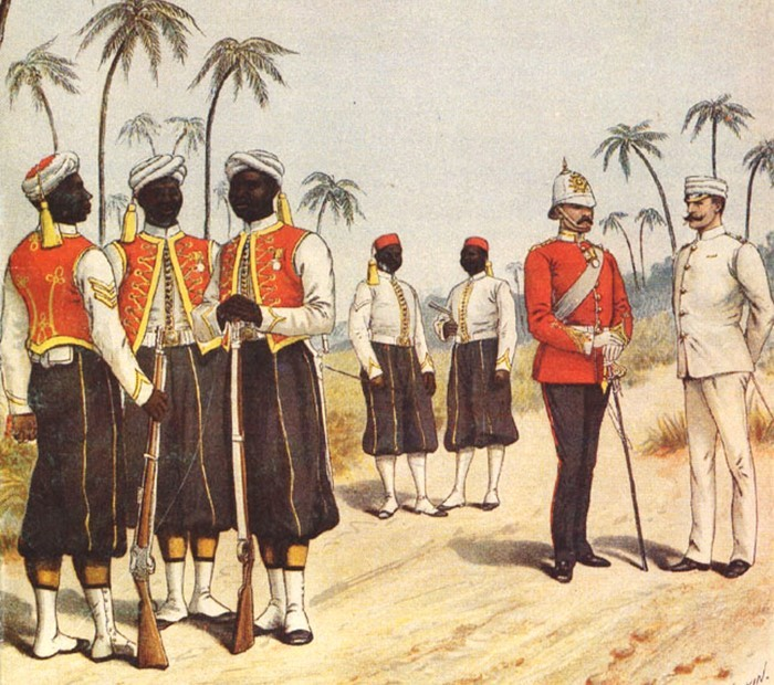 Soldiers of the West India Regiment (Print by R Sinkin Barbados Museum Bridgetown)