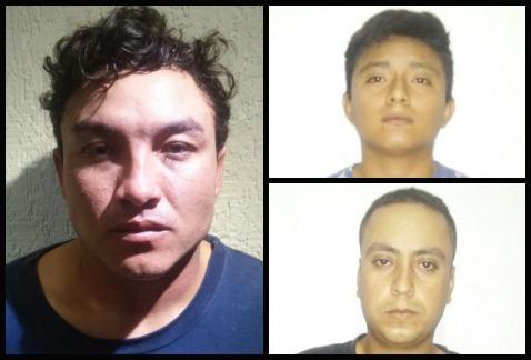 Photo: Milenio.com (clockwise from left) Rivero Matos, Sosa Luna and Franco Franco.
