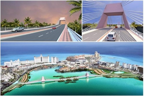 Photo: noticaribe.com Proposed Cancun bridge intended to reduce traffic congestion.