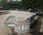 Photo: pinterest.com Conversation chairs in Merida's Plaza Grande.