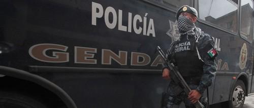 Photo: lasillarota.com Officer of federal Gendarmeria.