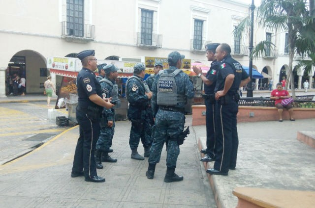 Federal Police in Yucatan and that they told him that they would absorb the cost of the stolen uniform (Photo: La Verdad de Yucatán)