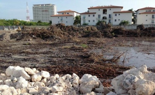Photo: eluniversal.com.mx Malecon Tajamar development impacts mangroves in Cancun.