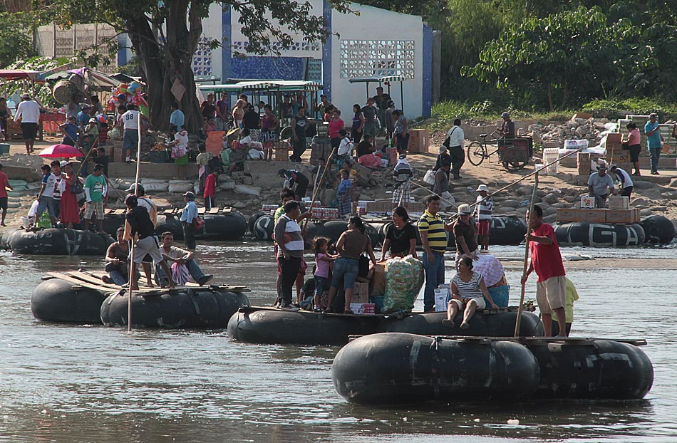 The Suchiate River on the Mexico - Guatemala border (Photo: El Universal)