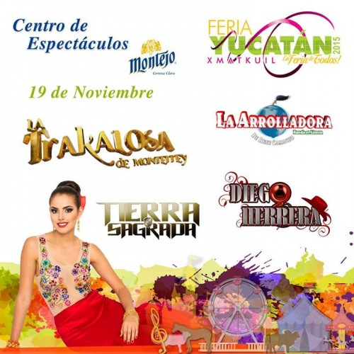 Yucatan State Fair Xmatkuil 2015 poster.