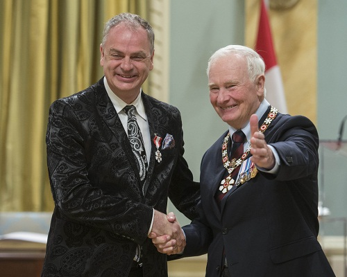 Order of Canada ceremony at Rideau Hall, Ottawa, Nov. 18, 2015.