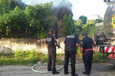 Gendarmerie extinguish fire in Valladolid (Quadratin)