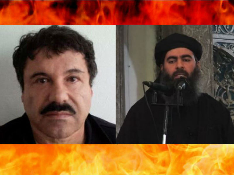 Chapo Guzman (left) and Abu Bakr al Baghdadi (right) (Photo: El Diario NY)
