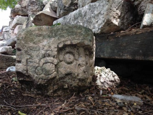Photo: SIPSE.com Megalithic stones have been found at a large Mayan site in northeast Yucatan.