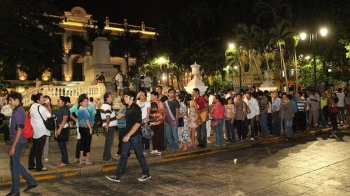 Photo: unionyucatan.mx Past editions of Noche Blanca have drawn more than 45,000 attendees.