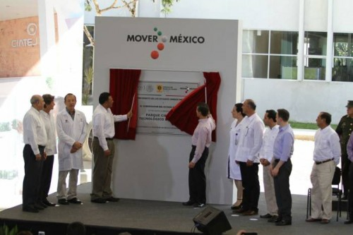 Photo: sipse.com Merida's Science and Technology Park will help to improve the region's economic competitiveness. Shown here is President Enrique Peña Nieto inaugurating the center last week.