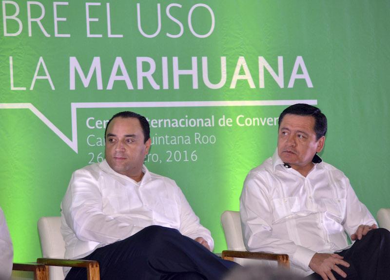 Gov. Borge speaks during a forum to discuss the medicinal use of marijuana. CUARTOSCURO.COM/ELIZABETH RUIZ