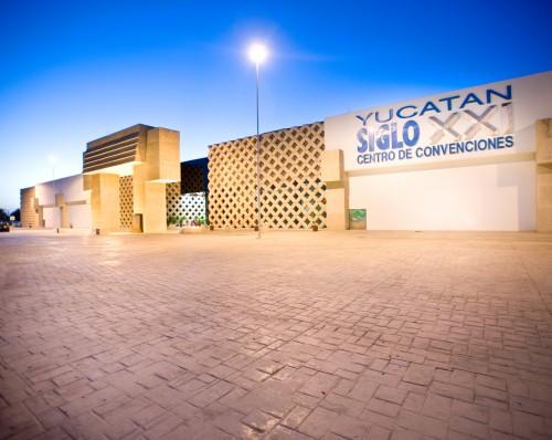Merida's Siglo XXI Convention Center wil be under tight security for Gov. Rolando Zapata's Third Annual Report Sunday Jan. 17. (PHOTO: turitransmerida.com)