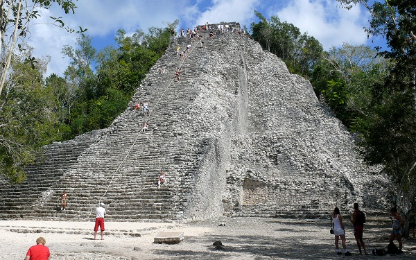 "Coba's ""Nohoch-Mul"" Mayan temple (Google)"
