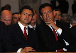 Enrique Peña Nieto and Humberto Moreira in 2010 (Photo: Vanguardia)