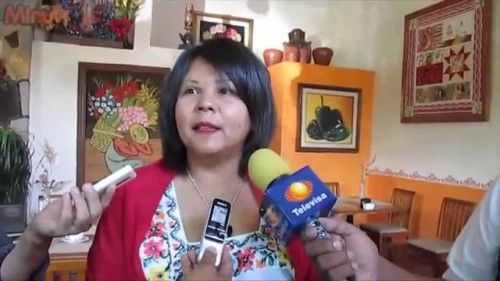 Mayor Gisela Mota was interviewed by the media, prior to being assasinated one day after taking office. (PHOTO: youthindependent.com)