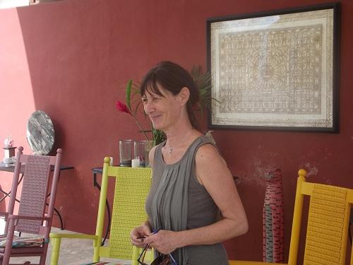 Leila Godet Voight, founder of La Cupula Cultural Center in Merida. (PHOTO: Robert Adams)