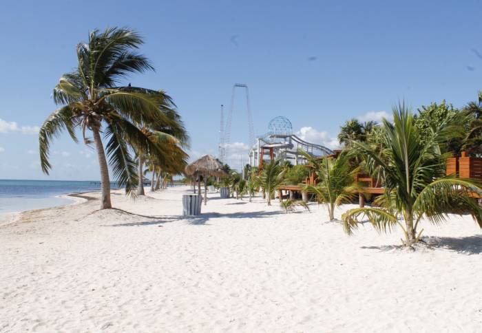 """Playa Corales"" beach , better known as ""Mirador II"" (Photo: SIPSE)"