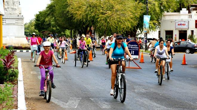 Biciruta en Mérida (Photo: unionyucatan.mx)