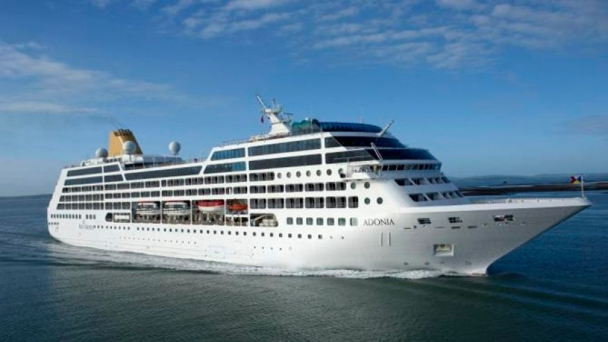 The 704 passenger Adonia ship will start sailing from Miami to Cuba May 1, 2016. (AP)