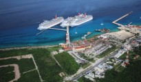 Carnival Cruise Line  docks at Puerto Maya on Cozumel. (PHOTO:  Carnival Corp.)