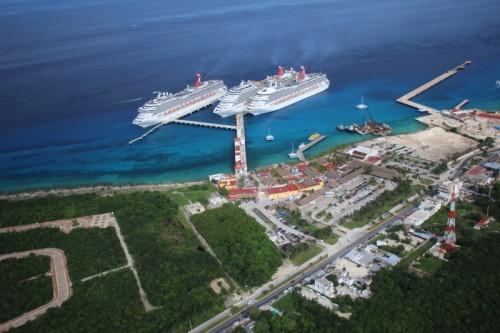 Carnival Cruise Line  docks at Puerto Maya on Cozumel. (PHOTO:  Carnival Corp.)