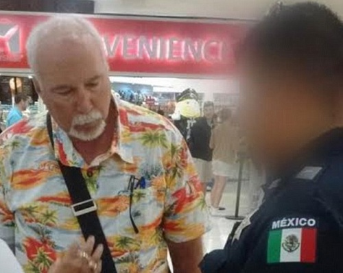 John Loveless was detained at Cancun International Airport before boarding a flight to Atlanta. (PHOTO: