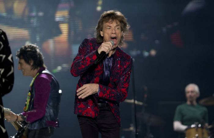The Rolling Stones during their first concert at Mexico City Foro Sol. (Photo: AP)