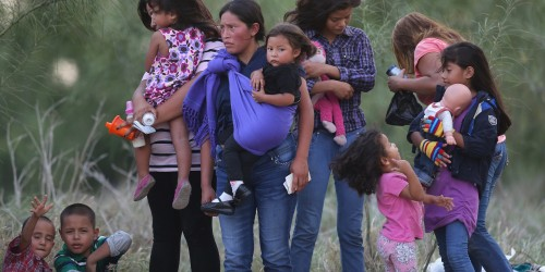 Many Central American refugee children, such as those shown in this photo, could qualify for asylum in Mexico but are denied that status, according to a new report. (Photo by John Moore/Getty Images)