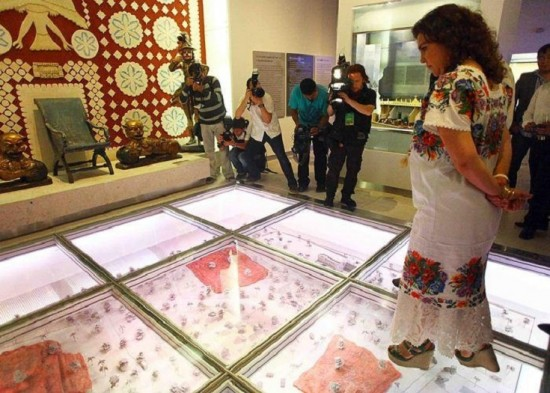 Ex-Gov. Ivonne Ortega Pacheco is shown at the opening of the museum. (PHOTO: mayaleaks.org)
