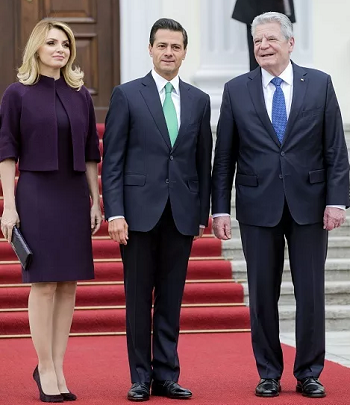 German President receives Peña Nieto and wife with military honors (Photo: http://mundohispanico.com)
