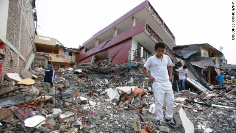 Mexican officials are denying rumors that an earthquake in Mexico is imminent. Photo shows damage in Ecuador from earthquake this week. (PHOTO: cnn.com)