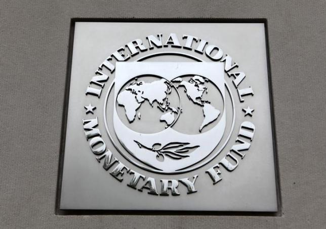 The International Monetary Fund (IMF) logo is seen at the IMF headquarters building in Washigton. (PHOTO: Reuters)