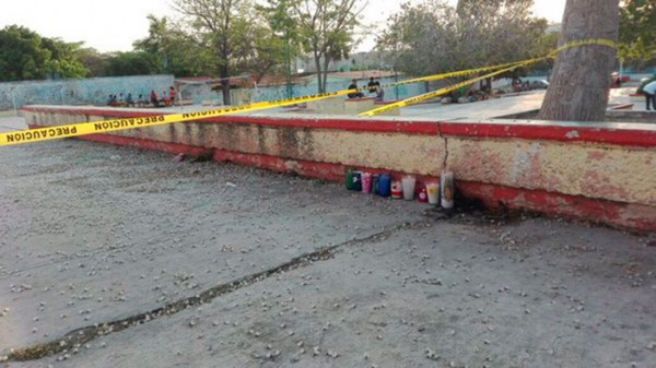 Scene of recent Campeche murder that has prompted calls for heightened security in the state. (PHOTO: proceso.com.mx)