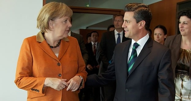 Anglea Merkel and Enrique Peña Nieto in Berlin (Reuters)