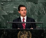 Enrique Peña Nieto, President of Mexio, called for decriminalization of drug use in a speech at the UN on Tuesday April 19. (PHOTO: United Nations)