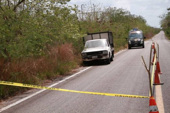 One of the vehicles invvoled in the heist was abandoned nearby. (PHOTO: sipse.com)