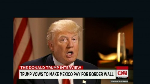 Republican presidential candidate Donald Trump detailed his plan to force Mexico to pay for a border wall. (PHOTO: CNN.com)