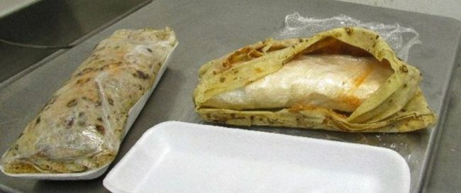 Burritos stuffed with Methamphetamine were confiscated at the Mexico-U.S. border. (PHOTO: abcnews.com)