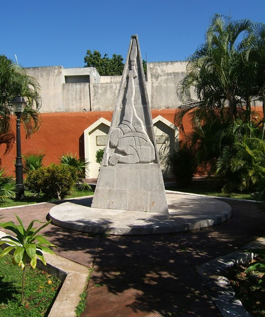 Monument in Heroes' Park, Valladolid, where the leaders of the June 1910 revolt were executed. (Photograph by the author)
