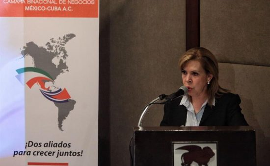 Beatriz Barreto, president of the Mexico-Cuba Chamber of Commerce. (PHOTO: vidalatinasd.com)