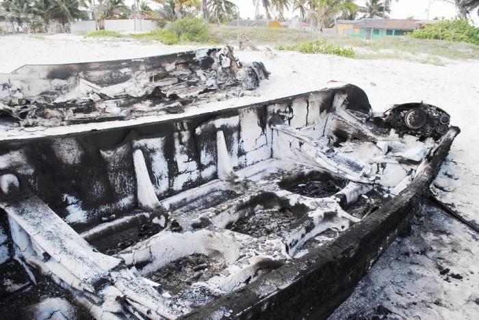 burned boats
